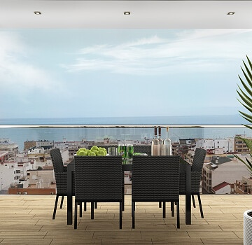 Brand new apartments just 300 m. walk to promenade & seafront in town center in Ole International