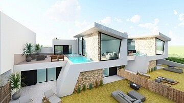 Luxury brand new villas overlooking the golf course in Rojales  in Ole International
